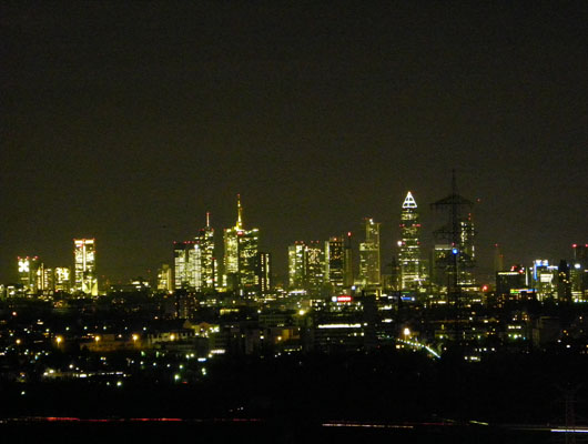 Premium Business Center Eschborn Skyline View Frankfurt by Night